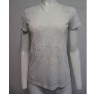 LOVE MOSCHINO white sequin embellished top sz 44/8